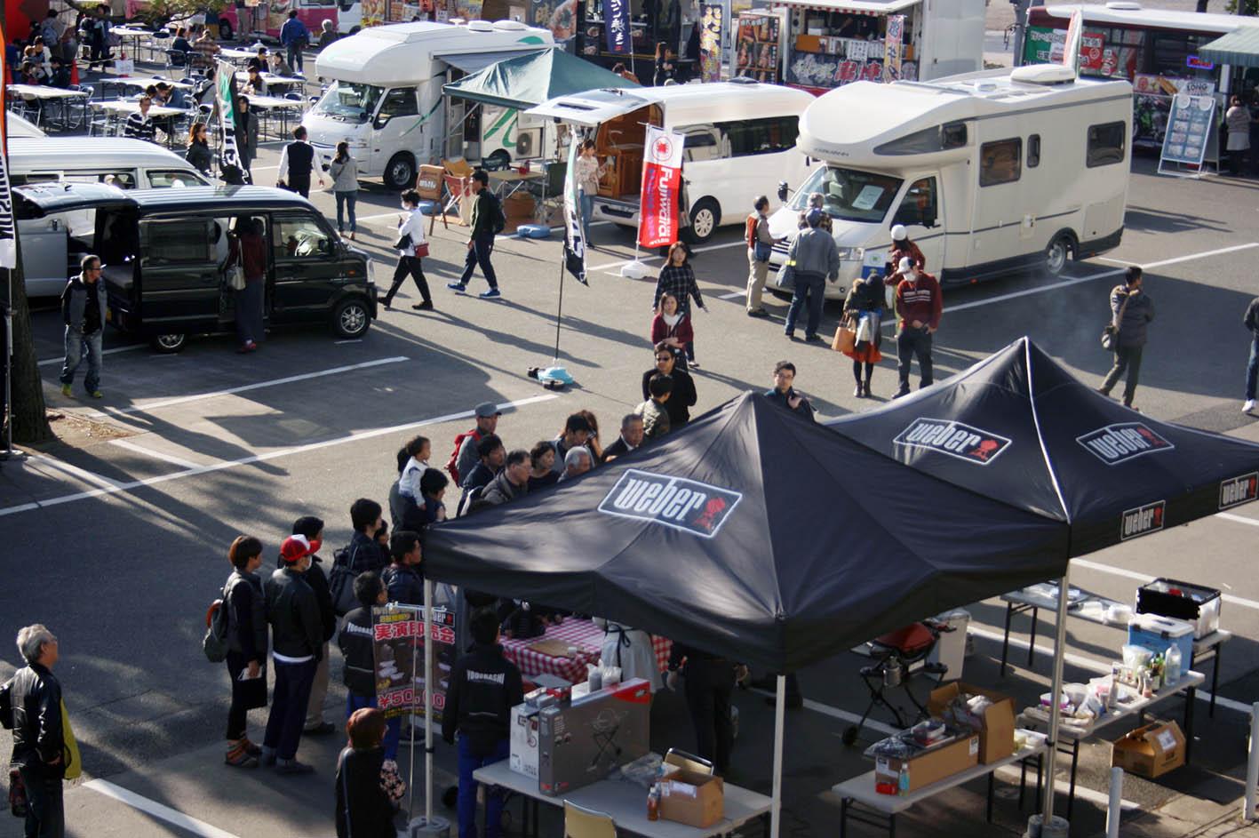 福岡キャンピングカーショー 屋外