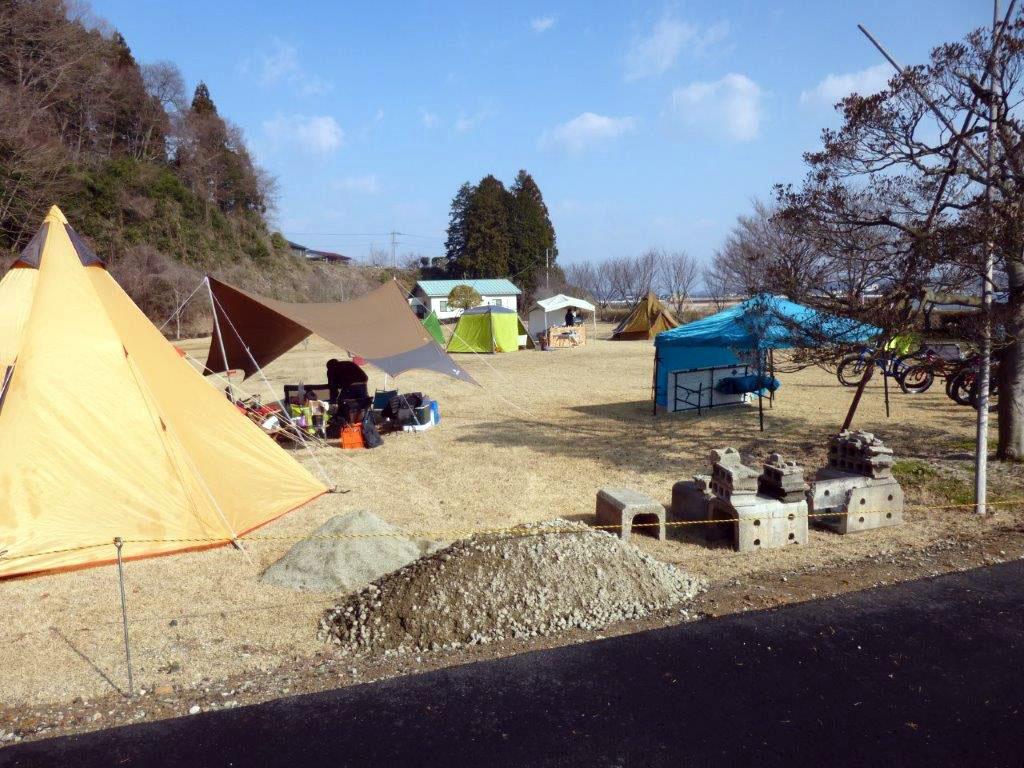 城の湯RVパークのキャンプ場