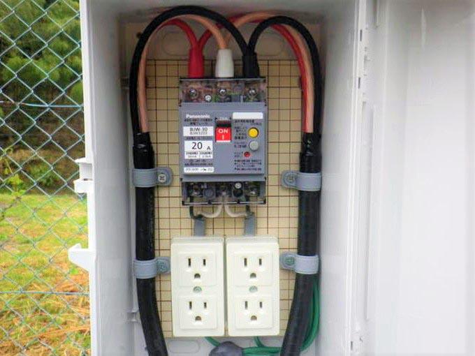 RVパークハチ北 電気